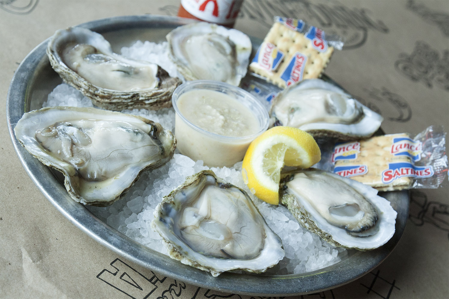 *Oysters on theHalf Shell (RAW)