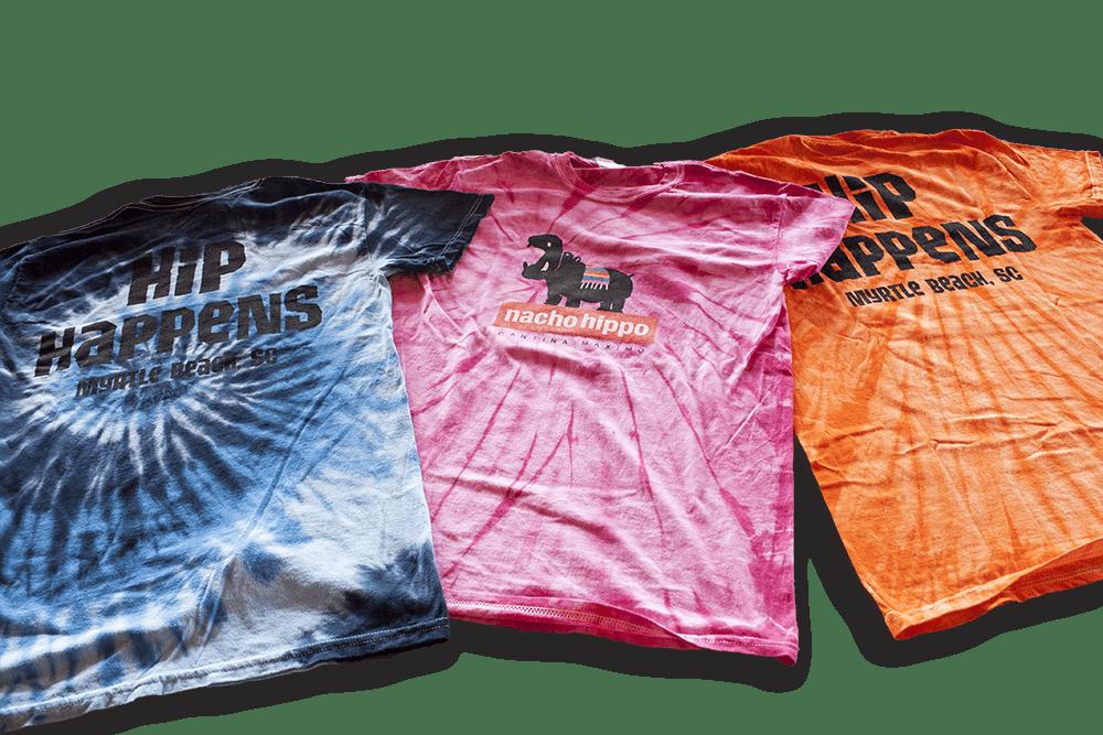 A bunch of Nacho Hippo T-shirts